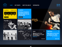 Tiled Based Website Concept