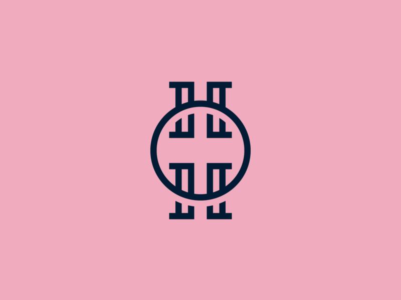 Hand In Hand Branding h logo h letter monogram logo monogram stationery wedding