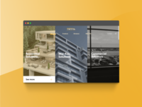 Triple Split Screen Landing Page Design