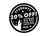 Student Discount Badge