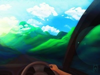 Drive To Mountain by ZiaPriom