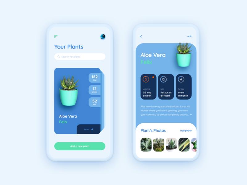 Plant care app flower plant ui  ux ui app