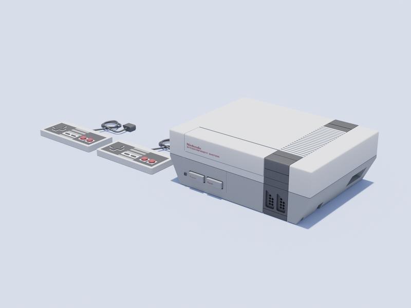 NES nintendo illustration nes blender