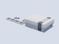 NES nintendo illustration nes blender