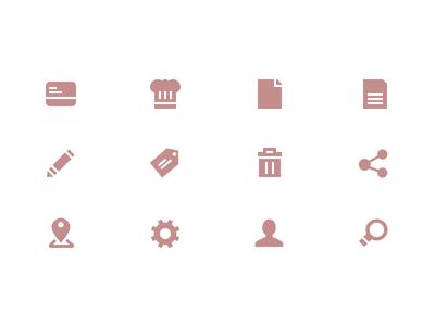 Icon Set Vol.1 icon location share user chef search delete edit set icons