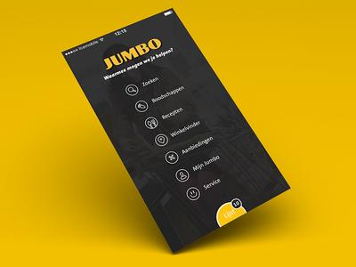 Jumbo side menu mobile app icons ios android jumbo