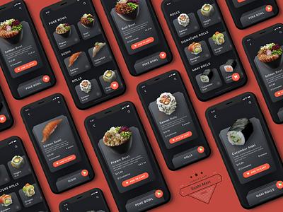 Sushi Mart Concept Interaction mobile interaction sushi prototype motion design invisionstudio invisionapp food app uxdesign iosdesign mockup ios invision ui uidesign app design app concept app animation animated