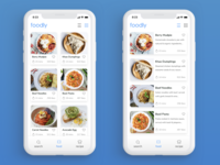 Food Recipe App concept called Foodly!