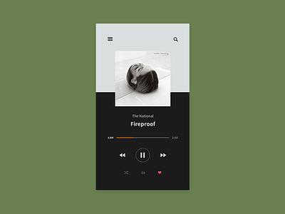 Music Player music player ui minimal app player music 009 dailyui daily