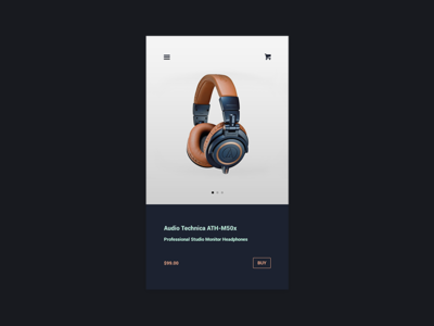 E-Commerce Shop (Single Item) headphones app buy shopping e-commerce 012 dailyui daily