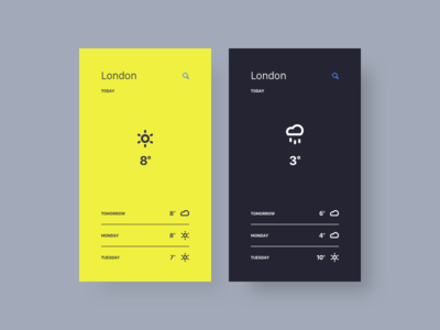 Weather App icons weather ux ui mobile minimal design app dailyui daily 037