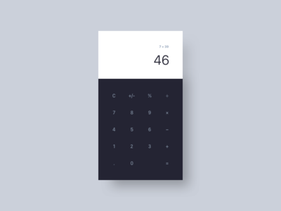 Calculator calculator ux ui mobile minimal interface dailyui daily app 004