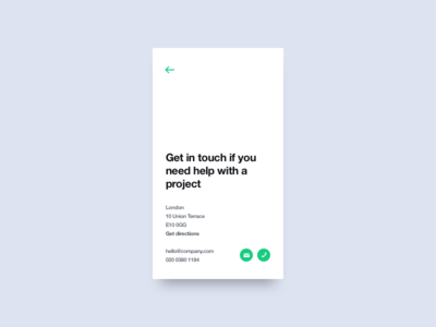 Contact Us us contact ux ui mobile minimal interface dailyui daily app 028