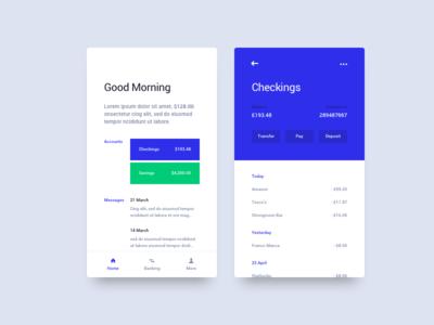 Bank Concept app interface clean minimal mobile ui ux bank finance concept money accounts