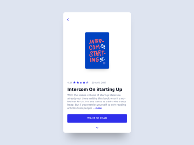 Book summary summary rating books book ux ui mobile minimal interface clean app