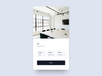 Meeting room booking time date scheduling booking meeting room app clean interface minimal mobile ui ux