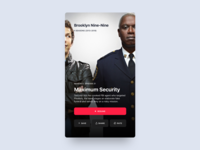 Brooklyn Nine-Nine stream video player show netflix ux ui mobile minimal interface clean app