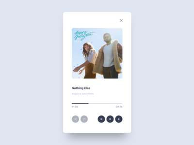 Music Player app clean interface minimal mobile ui ux album cover media player music