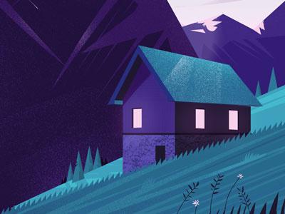 Swiss mountain texture vector chalet alps swiss mountain illustration