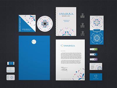 UNABARA Collateral marketing design layout brand identity