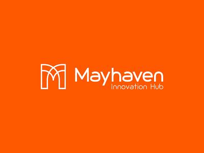 Mayhaven Innovation Hub - Logo digital combination mark logomark coworking space hub innovation monogram icon typeface lettermark identity design typography logo minimal branding