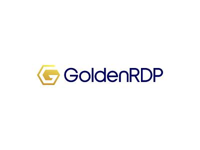 GoldenRDP Logo gold rdp vps hosting vps letterform combination mark typeface graphicdesign lettering lettermark identity design typography logo minimal branding