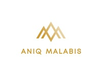 ANIQ MALABIS Lettermarks Logo gold diamond elite exclusive clothing urban fashionable class unique royalty wordmark lettering typography typeface lettermark design identity logo minimal branding