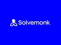 Solvemonk - Logo brand identity meditation euruka enlightenment school ideas intelligence monk solve brandmark icon wordmark lettermark lettering design typography logo minimal branding