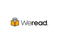 WeRead - Logo read bookclub book identity graphicdesign typography typeface lettermark lettering design logo minimal branding