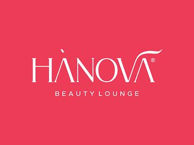 Hanova Beauty Lounge - Logotype elegant fashion luxury classy makeup beauty typeface lettermark design identity typography logo minimal branding