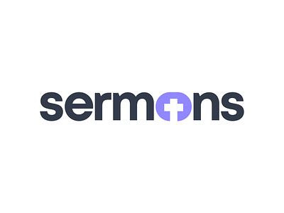 Sermons Logo wordmarks scripture sermon church wordmark flat vector typeface lettermark lettering typography logo minimal branding