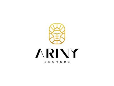 Ariny Couture fashion design fashion identity wordmark icon vector lettermark design typography logo minimal branding