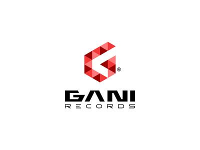 GANI RECORDS label record music design identity logo typography minimal branding