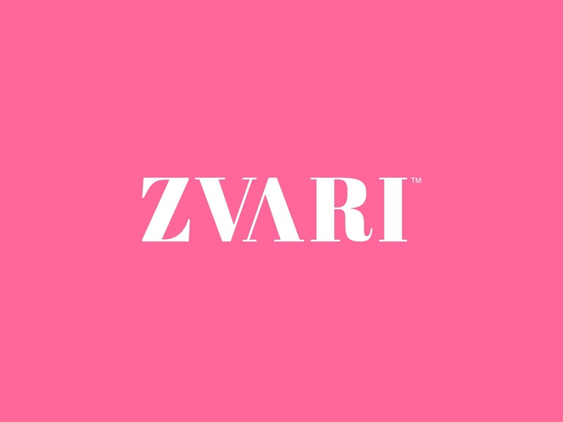 Zvari graphicdesign typeface design ui ux beauty fashion vector wordmark lettermark flat identity lettering typography logo minimal branding
