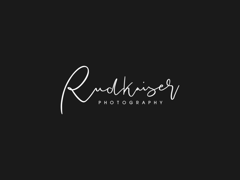 Rudkaiser Photography ui ux design script graphicdesign vector identity photography custom type lettering typography minimal logo branding signature