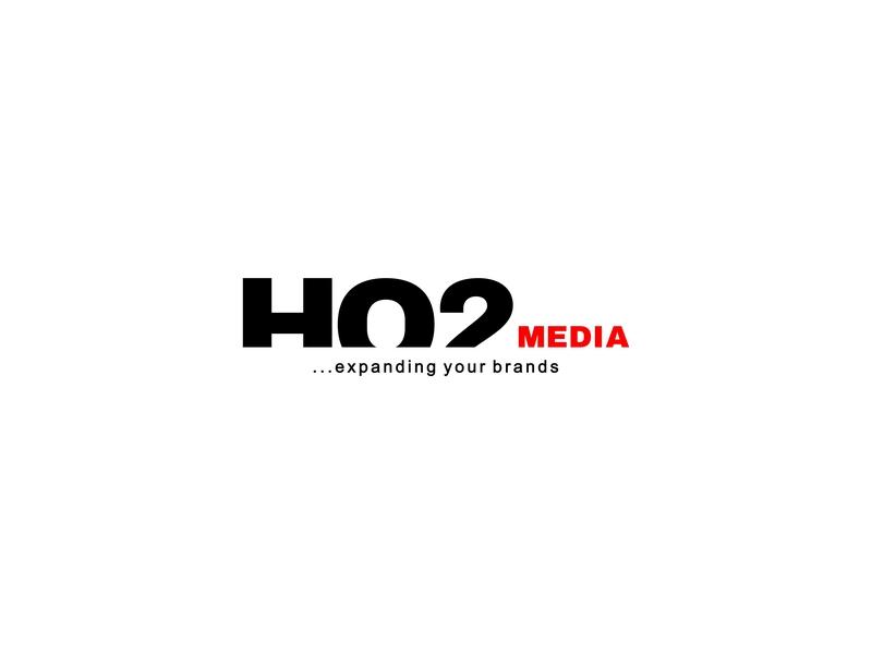 H02 Media news type wordmark vector flat typeface media logo graphicdesign lettermark typography identity lettering icon design minimal logo branding