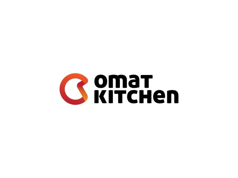 Omat Kitchen logodesign logotype vector illustration typeface minimal typography lettermark icon graphicdesign lettering design juice fruit kitchen logomark identity branding logo
