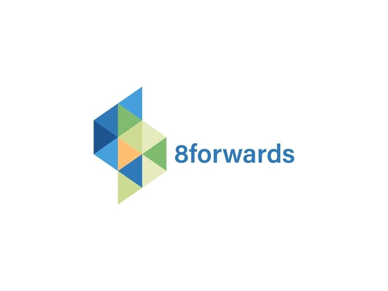 8forwards agile developer digital wordmark tech flat vector typography design illustration app web icon lettering identity logo minimal branding