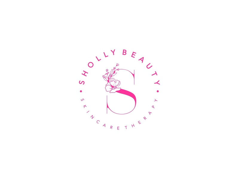 Sholly Beauty Skincare Therapy pink simplicity unique elegant illustration ladies woman lettermark graphicdesign cosmetics skincare beauty flat lettering design identity typography minimal logo branding