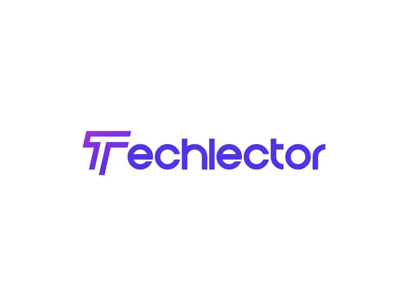 Techlector Logo web developer news technology media typeface graphicdesign tech wordmark lettermark typography lettering design identity minimal logo branding
