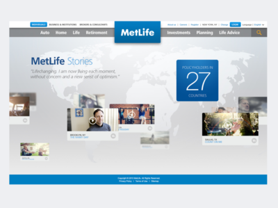 MetLife Stories map design interactive interface ui