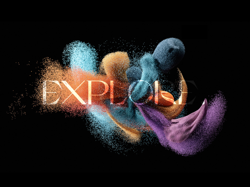 'Explore' cg typogaphy