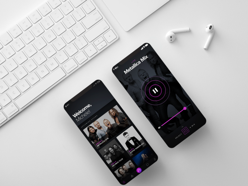 Mixhalo App streaming music app music design interactive interface ui