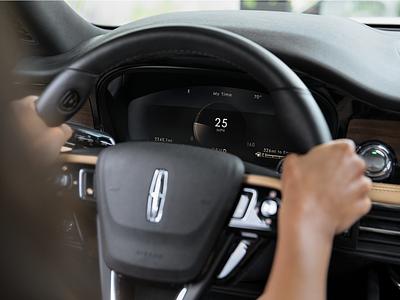2020 Lincoln Corsair car automotive interactive digital dashboard design ui interface hmi