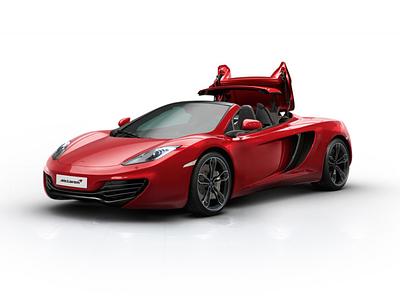 McLaren MP4-12 hmi car design interface interactive animation automotive render 3d cg ui
