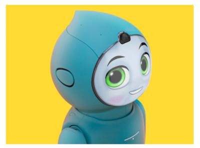 Moxie : companion robot ui interface interactive ai robot product design