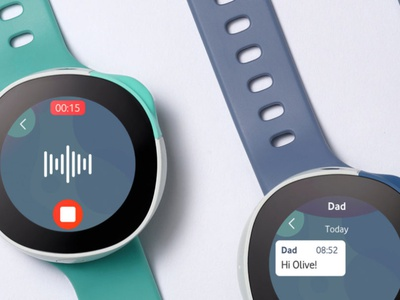 Vodafone Neo : kids watch kids wearable tech wearables interactive product design interface ui