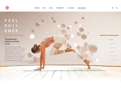 lululemon Concept web design ui interface interactive design consumer goods apparel yoga lifestyle fashion ecommerce website