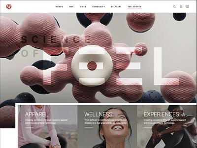 lululemon Concept ui interface interactive design consumer goods apparel yoga ecommerce website design