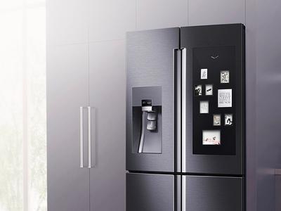 Smart Fridge typography ui interface interactive design connection fridge smart home connected home smart appliance